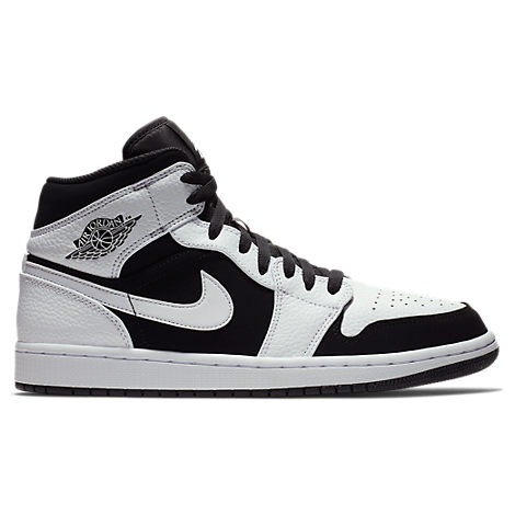 the best attitude 690e1 176f5 Nike Men s Air Jordan 1 Mid Retro Basketball Shoes, White