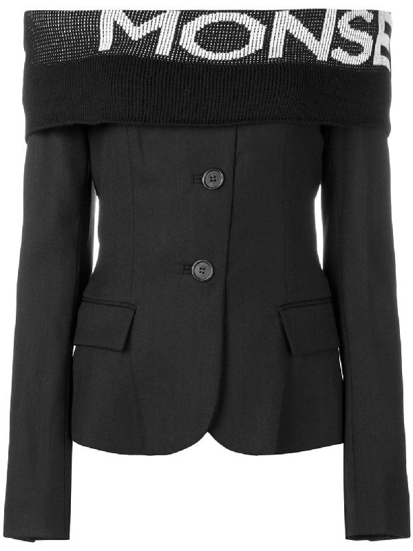 c319e50bb602d Monse Off-The-Shoulder Blazer Blouse - Black | ModeSens