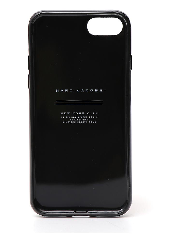 Marc Jacobs Logo Iphone 7/8 Cover In Black