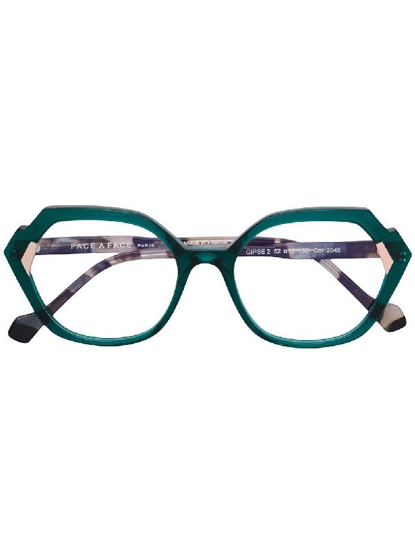 b219e33f06e54 Face À Face Gipse2 Oversized Glasses - Green