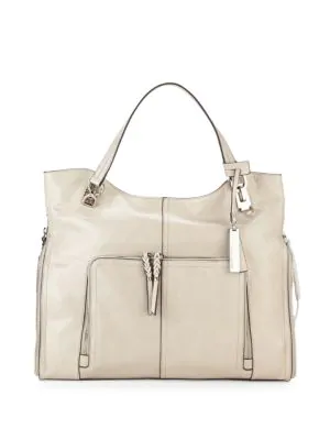 896cedb2ef Vince Camuto Narra Leather Tote In Light Grey | ModeSens