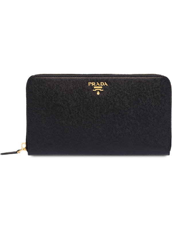 7910fb860738 Prada Wallet Saffiano Metal Oro In F0002 Black | ModeSens