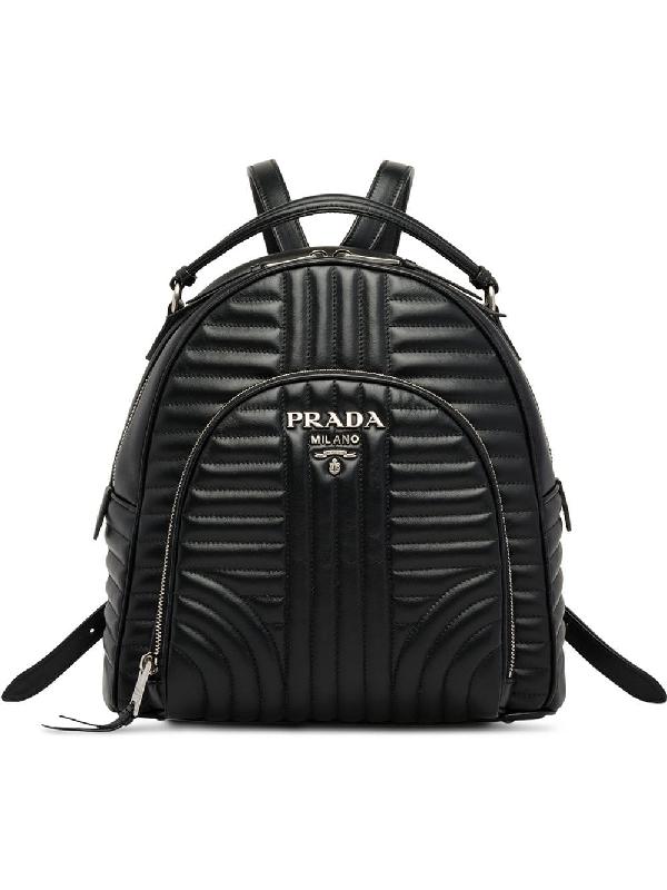 6e39843e4fd Prada Diagramme Backpack - Black   ModeSens