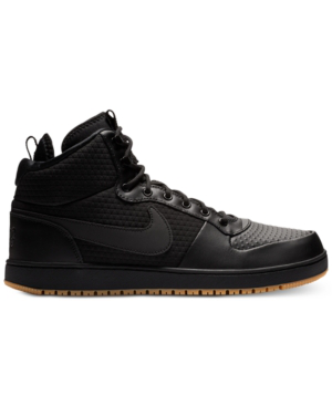 official photos 5f5ea 5e2d0 Nike Men s Ebernon Mid Winter Casual Sneakers From Finish Line In Black  Black-Gum