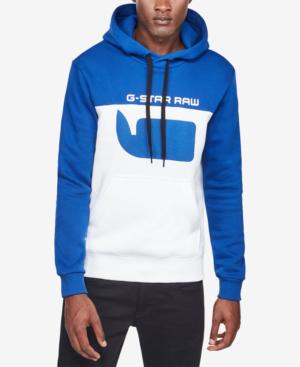 96d3917ec48 G-Star Raw Men's Colorblocked Logo Hoodie In Hudson Blue | ModeSens