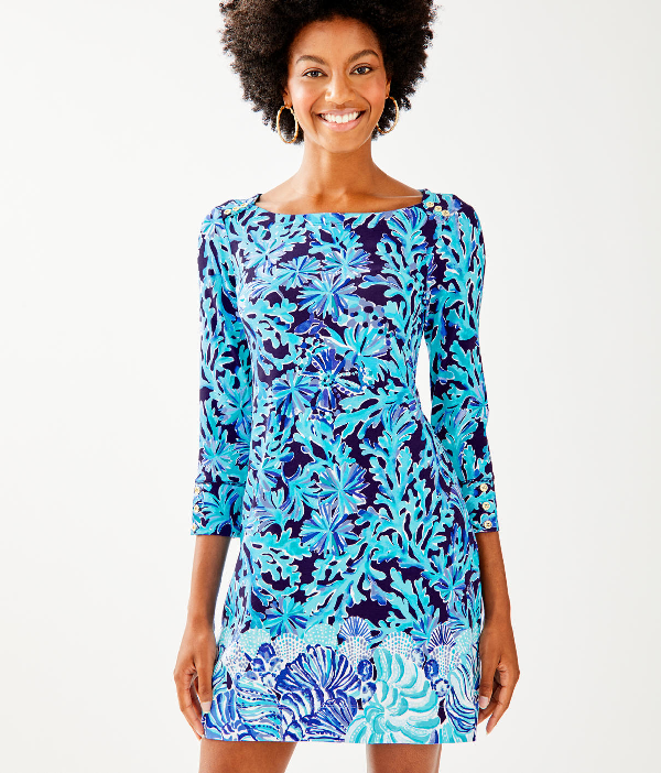 05f92bc4d75e55 Lilly Pulitzer Upf 50+ Sophie Dress In Blue Grotto Legga Sea Engineered  Sophie Dress