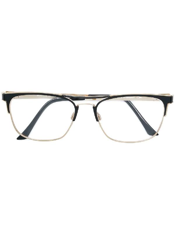 d9f036f647eb Cazal Square Frame Glasses - Black | ModeSens