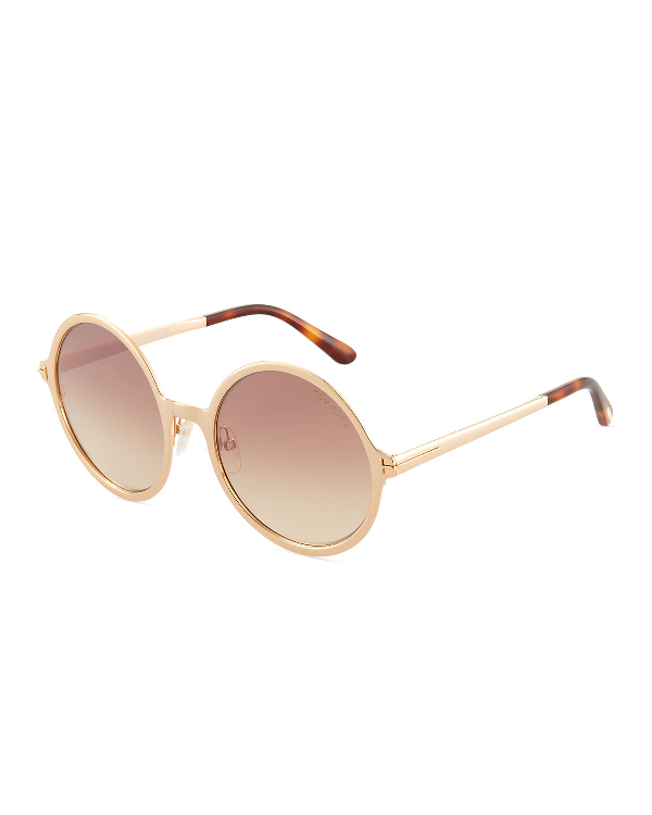 6b0da80a781d Tom Ford Round Gradient Metal Sunglasses In Smoke