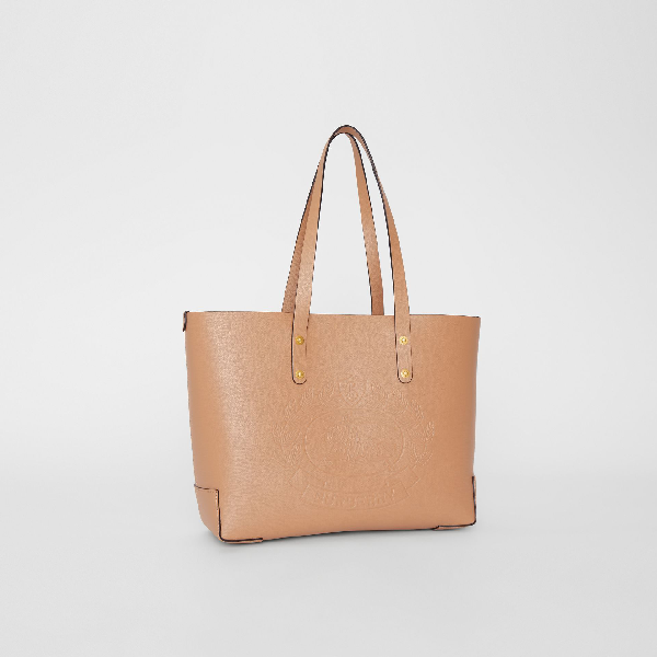 7ea0ef7191d3 Burberry Small Embossed Crest Leather Tote - Beige In Neutrals ...