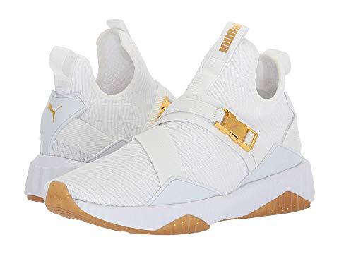 Puma Defy Mid Varsity, White/metallic Gold | ModeSens
