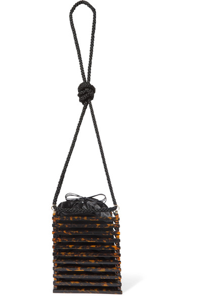 8663f3d446 Montunas Vanda Tortoiseshell Acetate Shoulder Bag In Brown   ModeSens