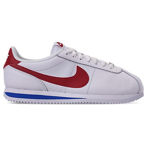 factory price 0b620 e5fcc Men's Cortez Basic Leather Og Casual Sneakers From Finish Line in  White/Varsity Red-Varsity