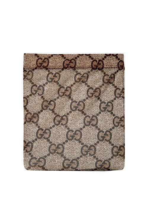 4fab0b24edf Gucci - Gg Supreme Snake Print Tights - Womens - Brown Multi