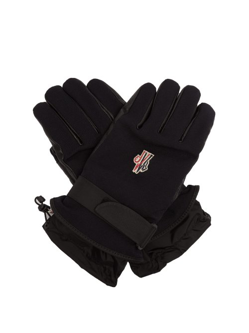 da614f9cf Moncler Grenoble - Twill And Leather Technical Ski Gloves - Mens ...