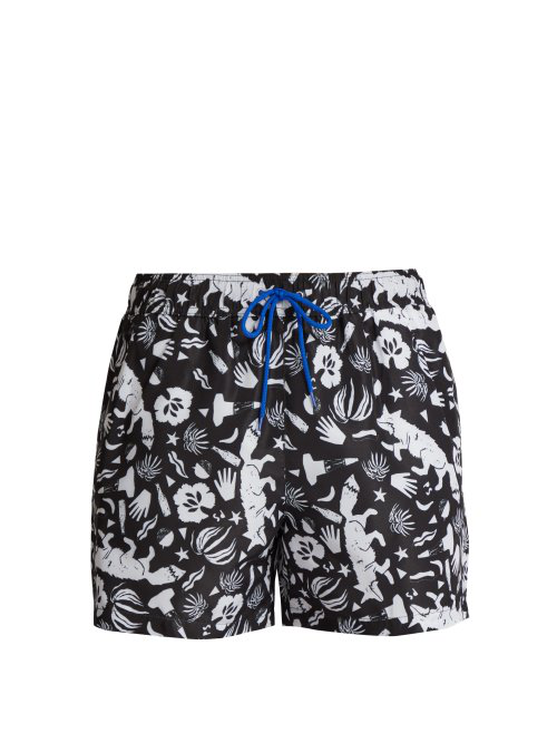 08b13074fb Paul Smith - Fox Print Swim Shorts - Mens - Black Multi | ModeSens