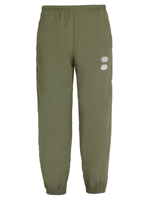 online shop official supplier catch Off-White - Logo Technical Track Pants - Mens - Green