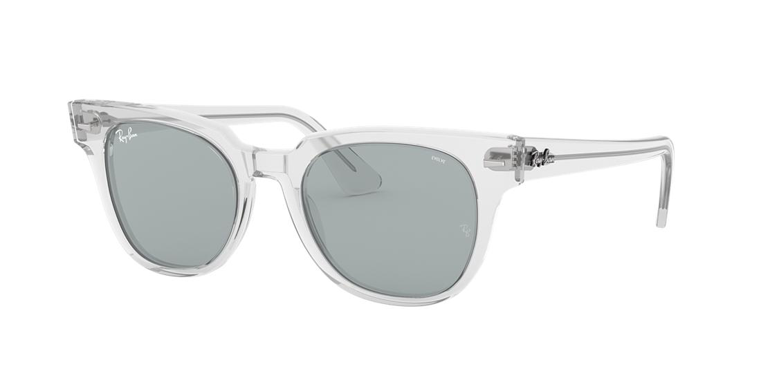 31248584d0 Ray Ban Meteor 50Mm Wayfarer Photochromic Sunglasses - Crystal  Blue Solid  In Clear Frames