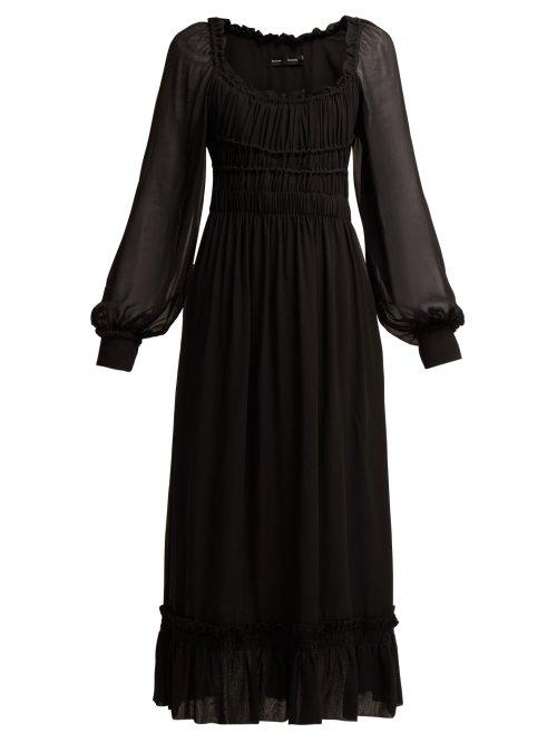 5164a55cb1884 Proenza Schouler Square Neck Dress In Black | ModeSens