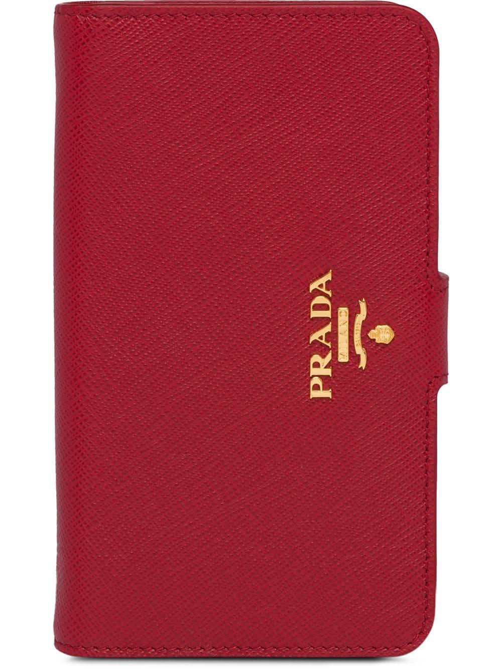 2927b1c1a8bb Prada Saffiano Iphone 7 Case - Farfetch In Red | ModeSens