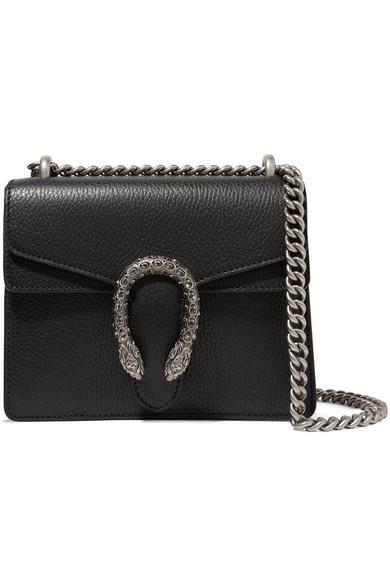 9def4b7b5a4d Gucci Dionysus Mini Textured-Leather Shoulder Bag In 8176 Nero ...
