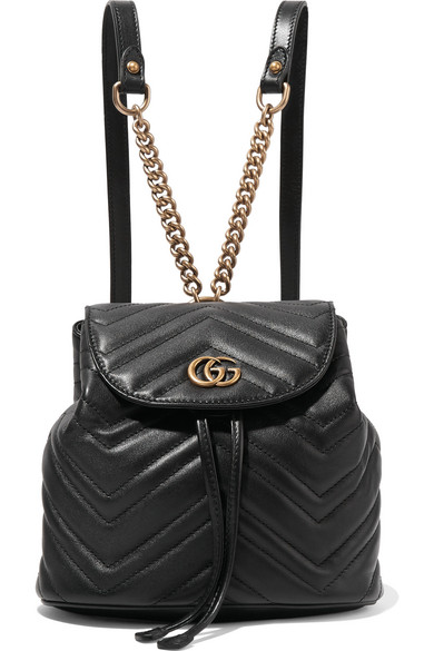 84c49bc01c3 Gucci Gg Marmont 2.0 MatelassÉ Leather Mini Backpack In 1000 Black ...