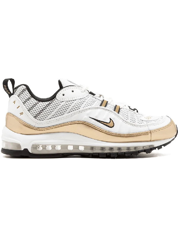 finest selection 3e675 ebe6f Nike Air Max 98 Uk Sneakers - White In Summit White  Metallic Gold