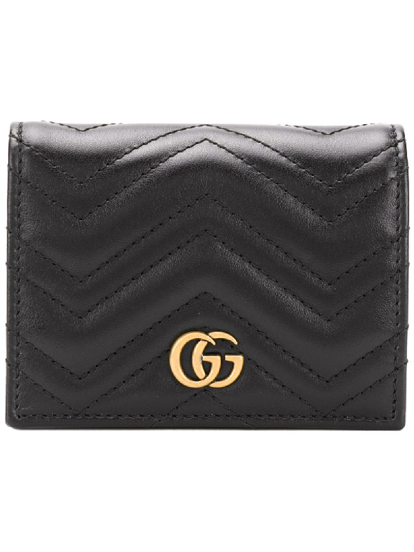 sale retailer 0ade3 65e03 Gucci Gg Marmont Card Case - Black