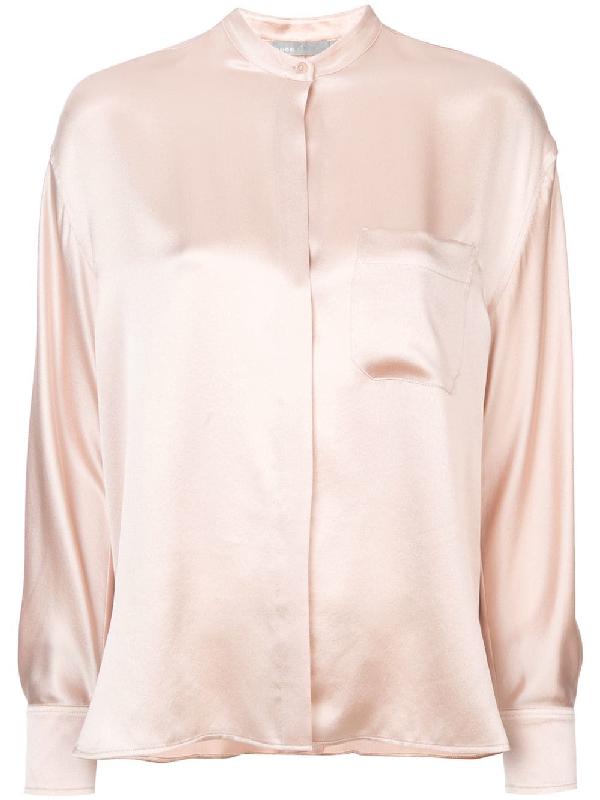 fca27c21b Vince Band Collar Shirt - Pink | ModeSens