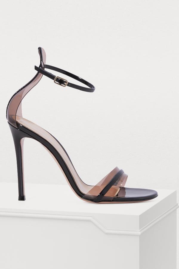 681e933fd Gianvito Rossi G String Sandals In Black Blush Babl