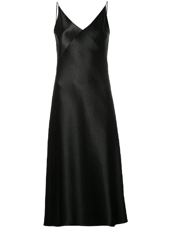 479c3401775 Vince Bias V-Neck Midi Slip Dress In Black