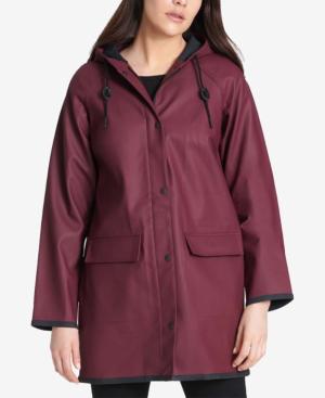 62757221bb8 Levi s Plus Size Hooded Rain Jacket In Wine