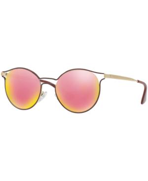 e49a39dcbda8 Prada Sunglasses, Pr 62Ss Cinema In Pink/Gold Mirror   ModeSens