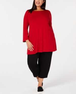 b18c22c29a3c8 Eileen Fisher Silk Boat-Neck Top