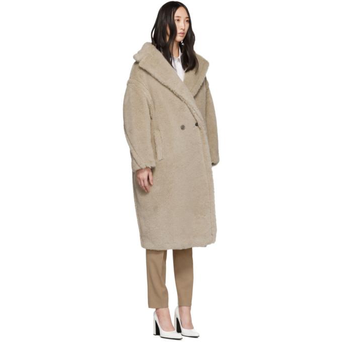 aabdca595 Max Mara Ginnata Double-Breasted Alpaca-Blend Long Coat In 002 ...