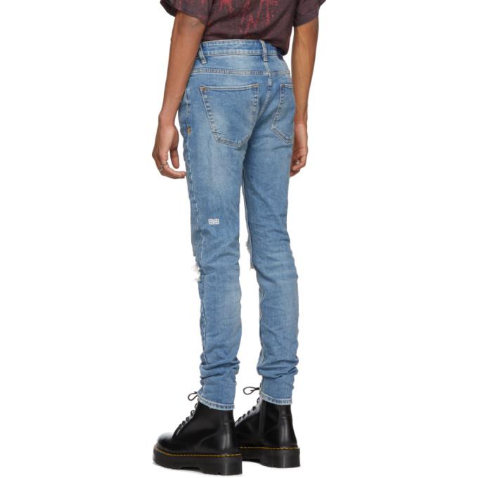 7c0fe0a654d Ksubi Blue Van Winkle No Glory Jeans In Denim