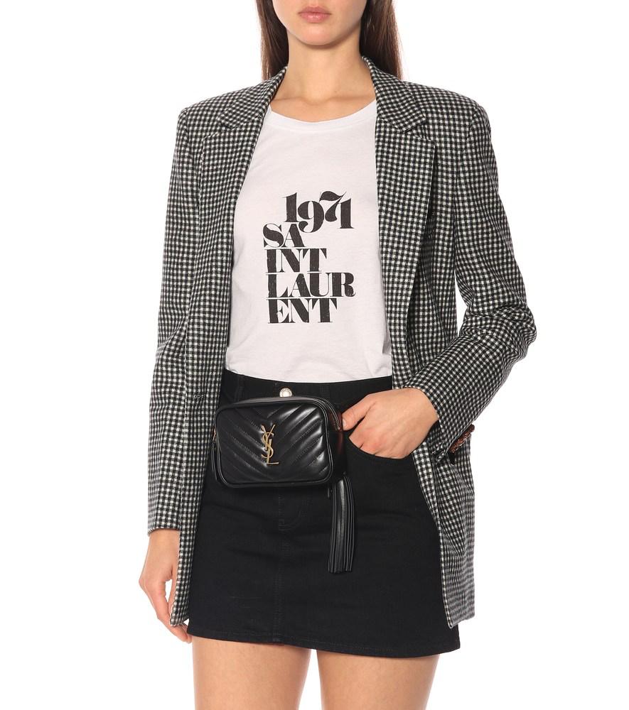 80df3df2d Saint Laurent Monogramme Lou Hip Belt With Pouch In Black | ModeSens