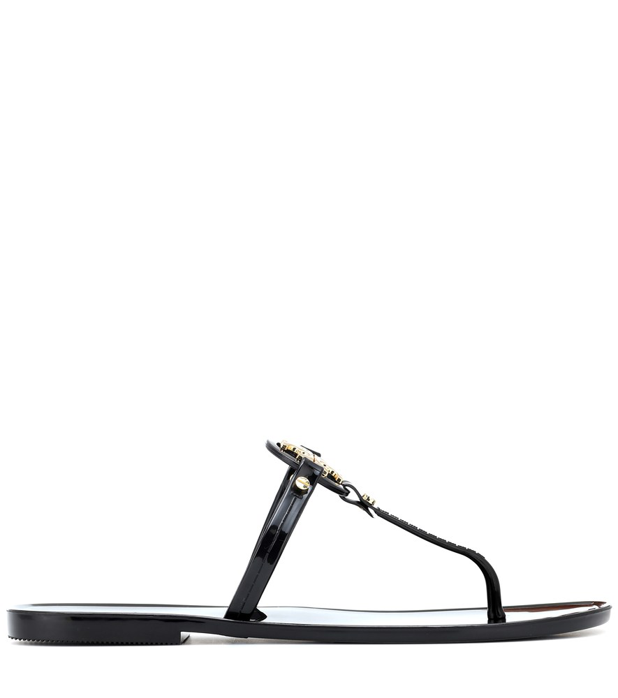 60221c5925664 Tory Burch Mini Miller Flat Leather Thong Sandals In 001 Black ...