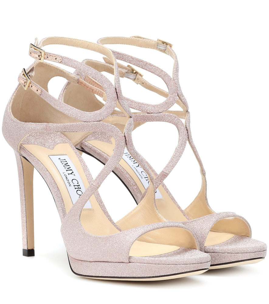 535aa8fb7901 Jimmy Choo Women s Lance 100 Strappy High-Heel Platform Sandals In Antique  Rose
