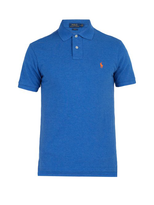 Blue Lauren Fit Piqué Cotton Mens Polo Ralph Shirt Slim jc3RALS54q