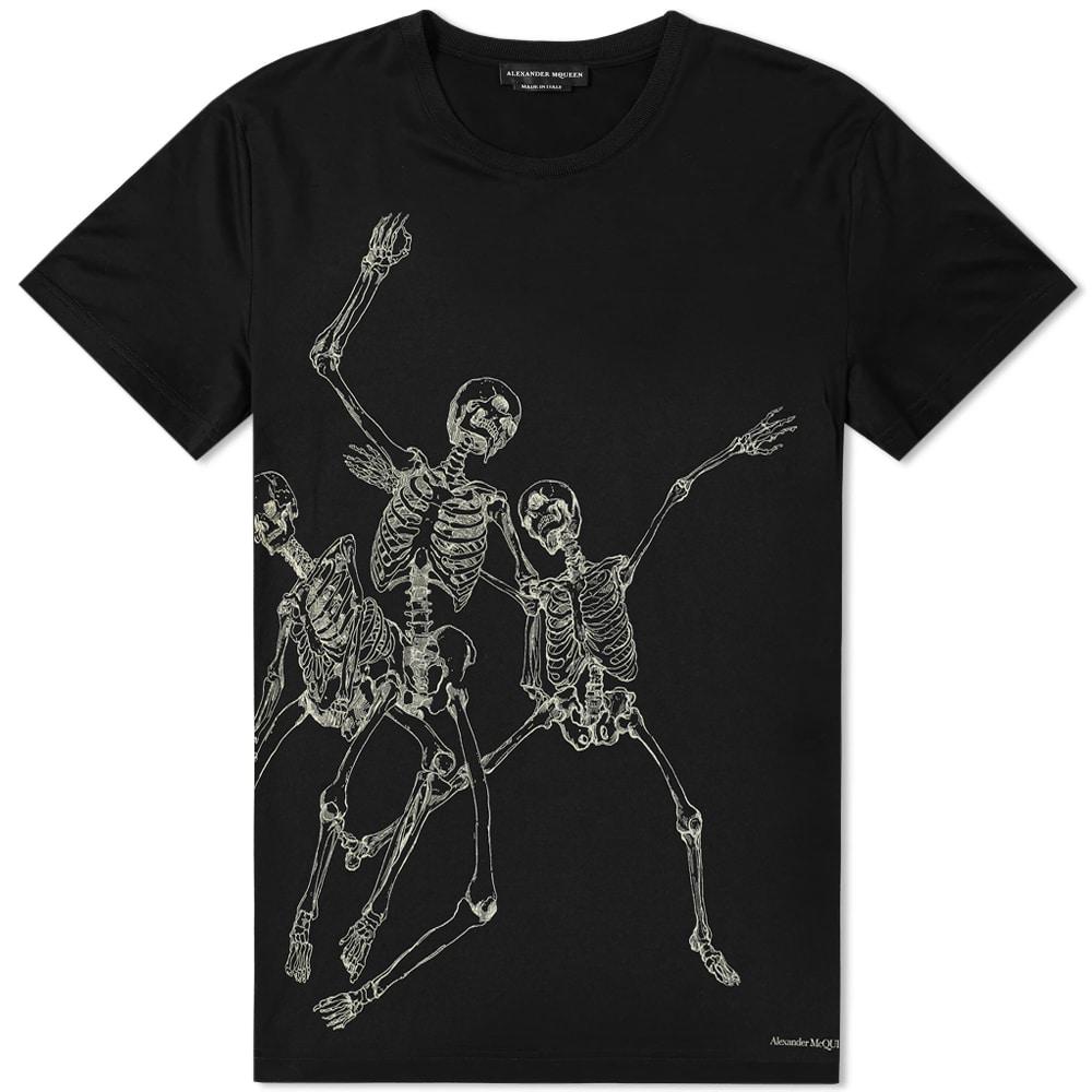 43777ef0 Alexander Mcqueen Dancing Skeleton Print T-Shirt In 0901 Bk/Mix ...