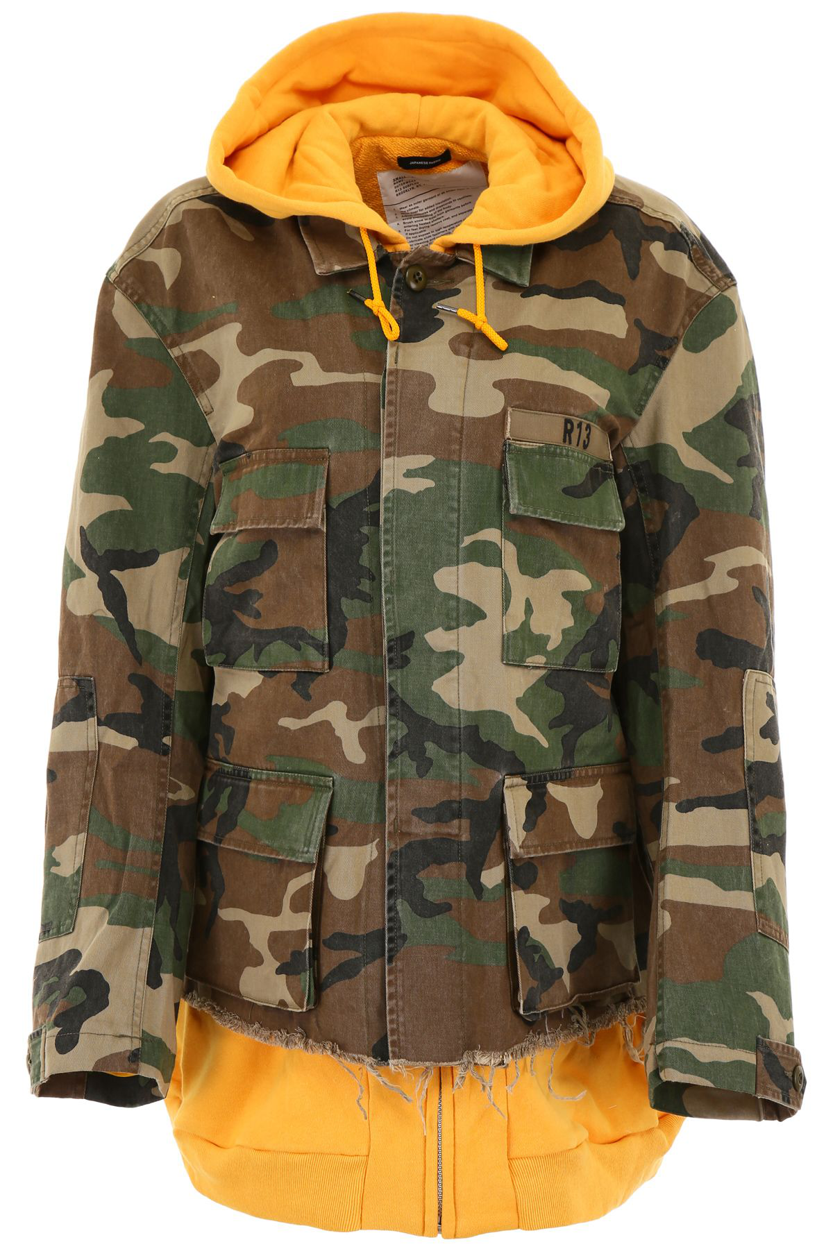 5ebba892dc189 R13 Abu Camouflage Cotton Field Jacket In Brown | ModeSens