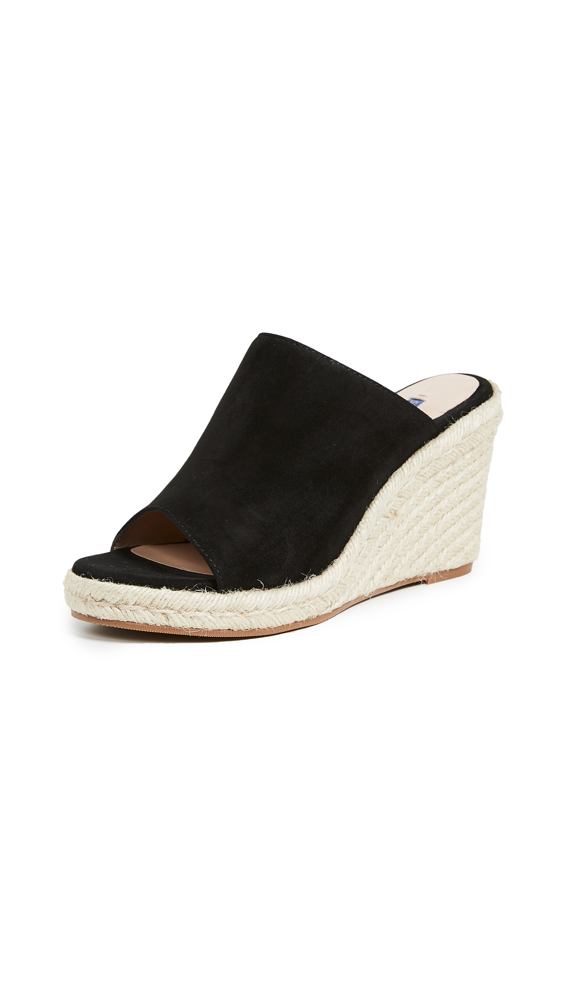 cfa0b76802d Stuart Weitzman Women s Marabella Suede Espadrille Wedge Sandals In Black