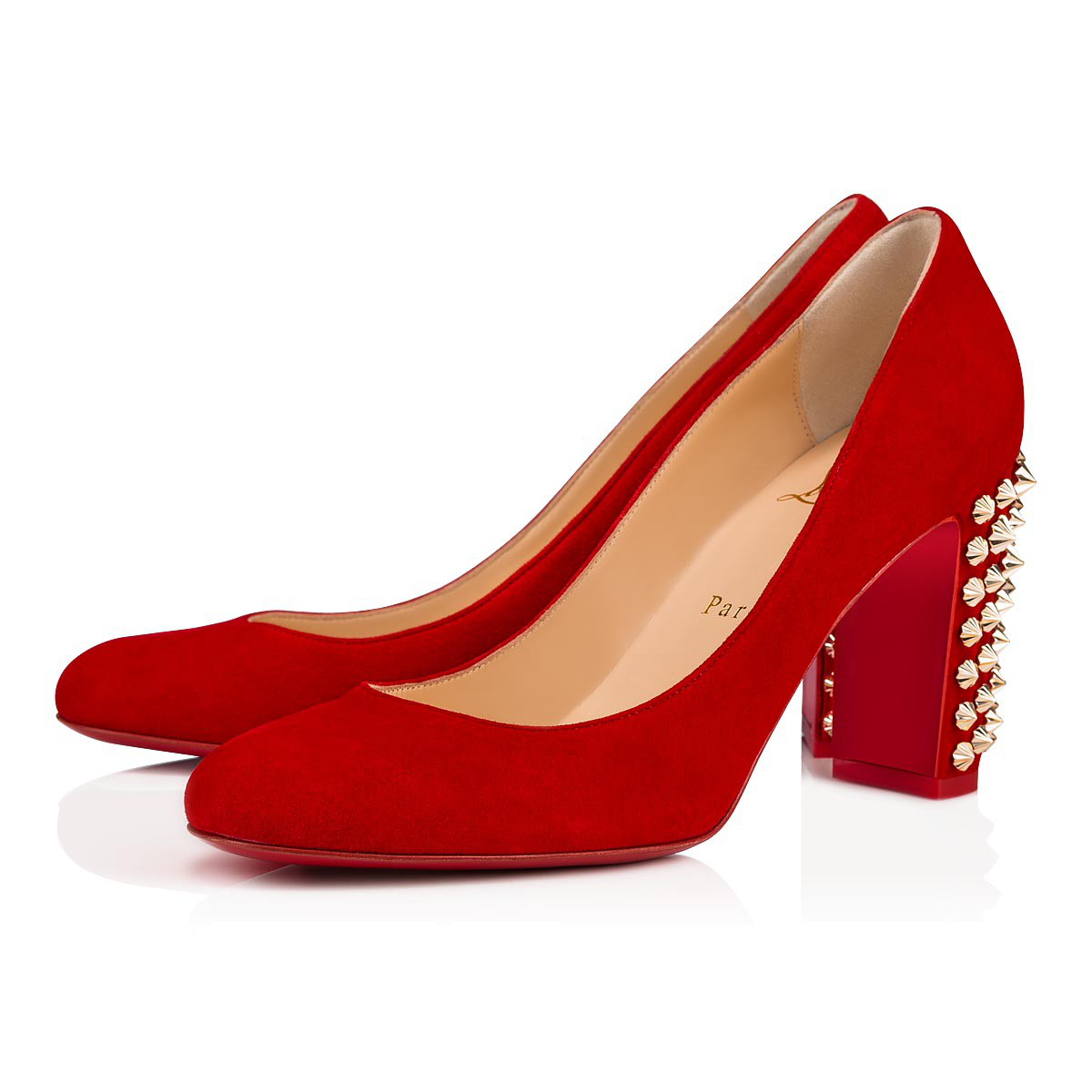 Christian Louboutin Donna Spike Red Sole Pumps, Red In Loubi