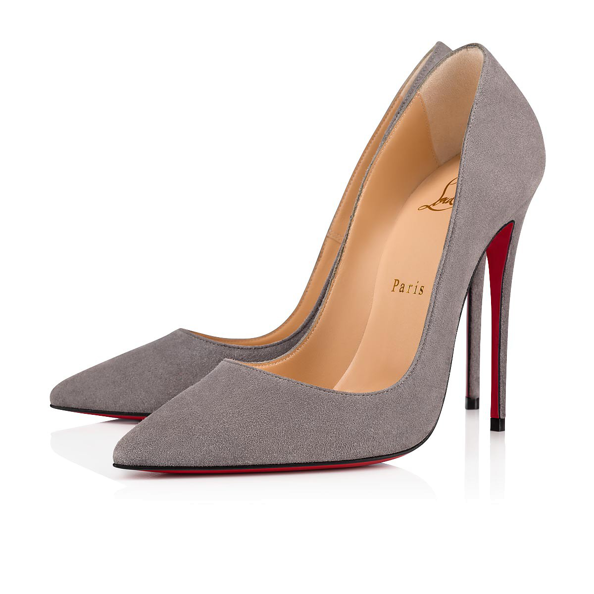 0d380588bfb Corneille Suede Red Sole Pumps in Shadow