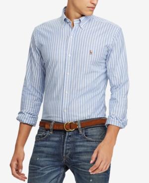 6c0ad60e8 Polo Ralph Lauren Men's Slim Fit Stretch Oxford Shirt In Blue Multi/White