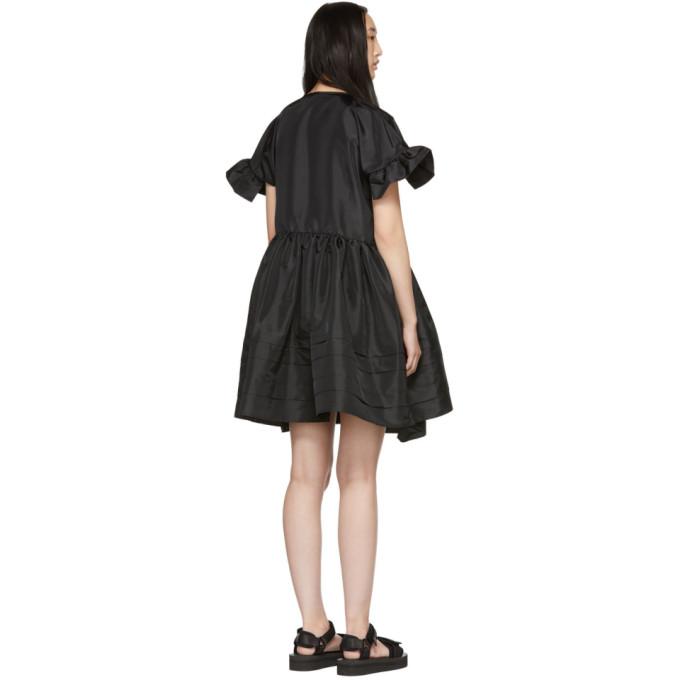 eb3b90ef05a5 Cecilie Bahnsen Prisca Ruffled-Sleeve Taffeta Dress In Black