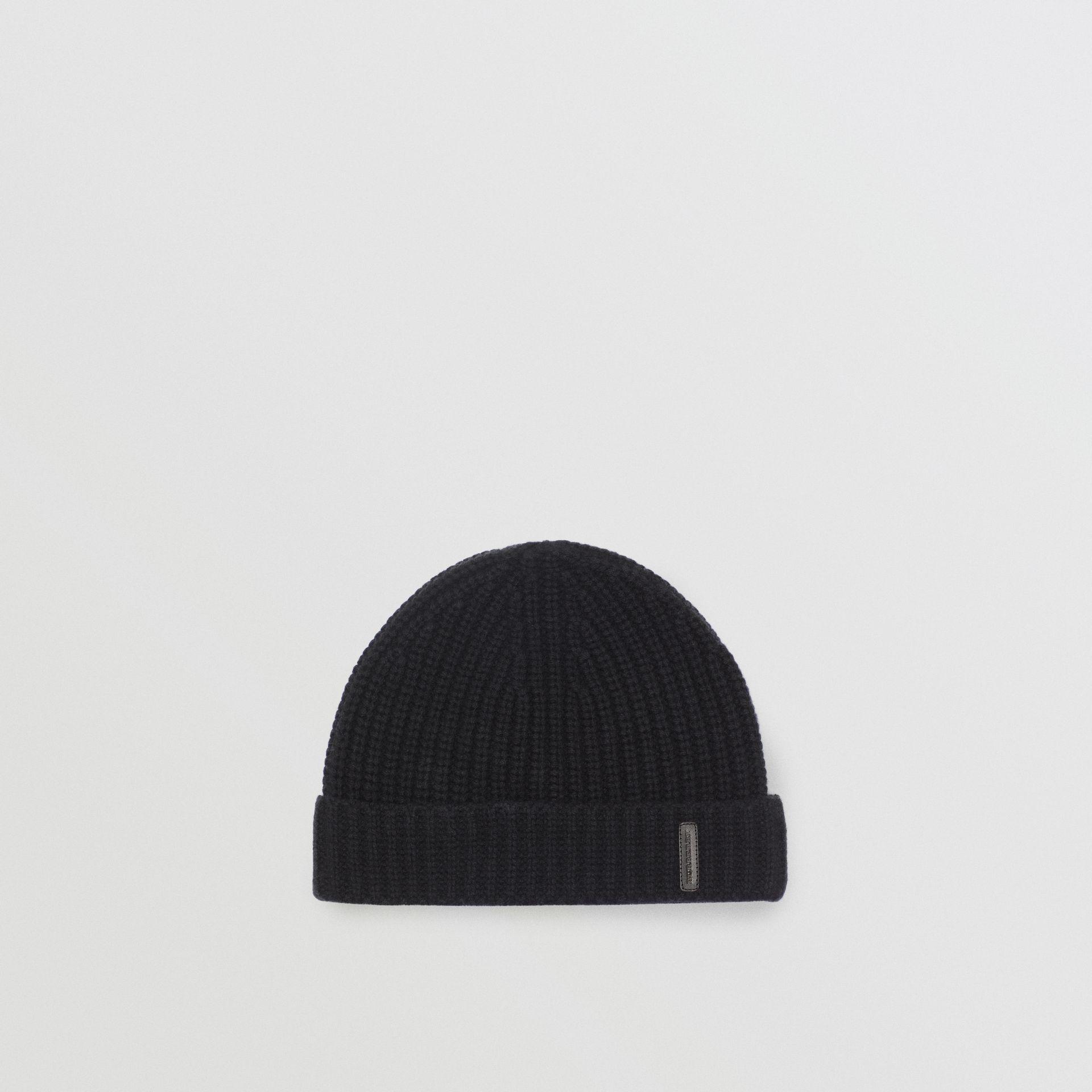 d51fc78a6a275 Burberry Rib Knit Cashmere Beanie In Black