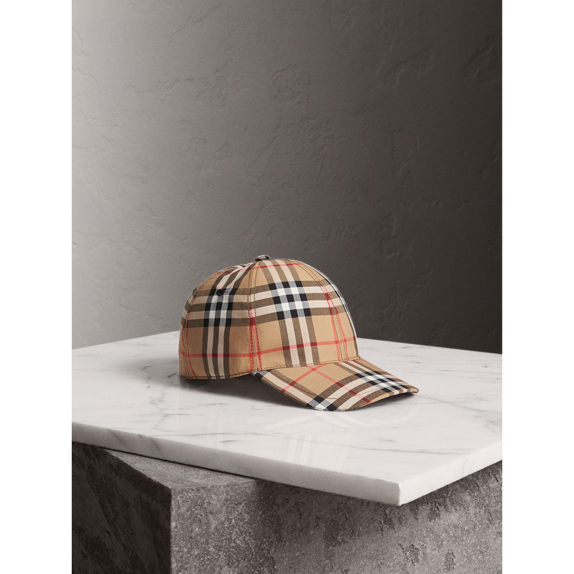 d859e851c32 Burberry Checked Cotton-Canvas Baseball Cap In Camel