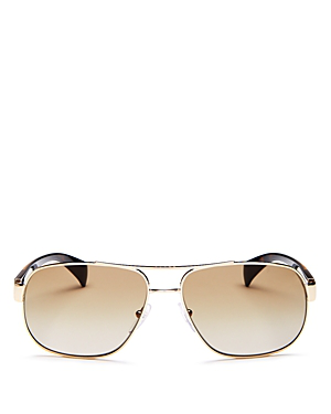 922f6735317 Prada Men s Pilot Aviator Sunglasses