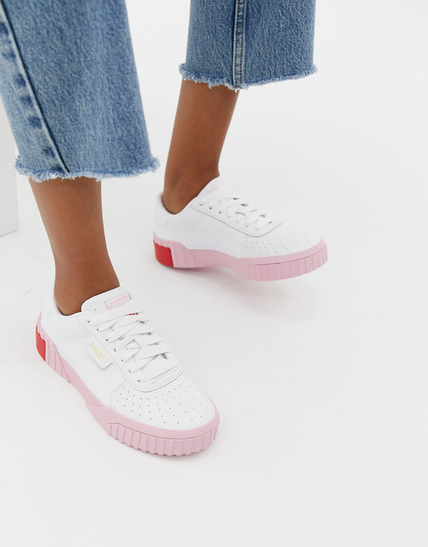 Cali White And Pink Sneakers - White